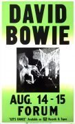 David Bowie – 1983 Boxing-Style Concert Poster From Los Angeles Forum