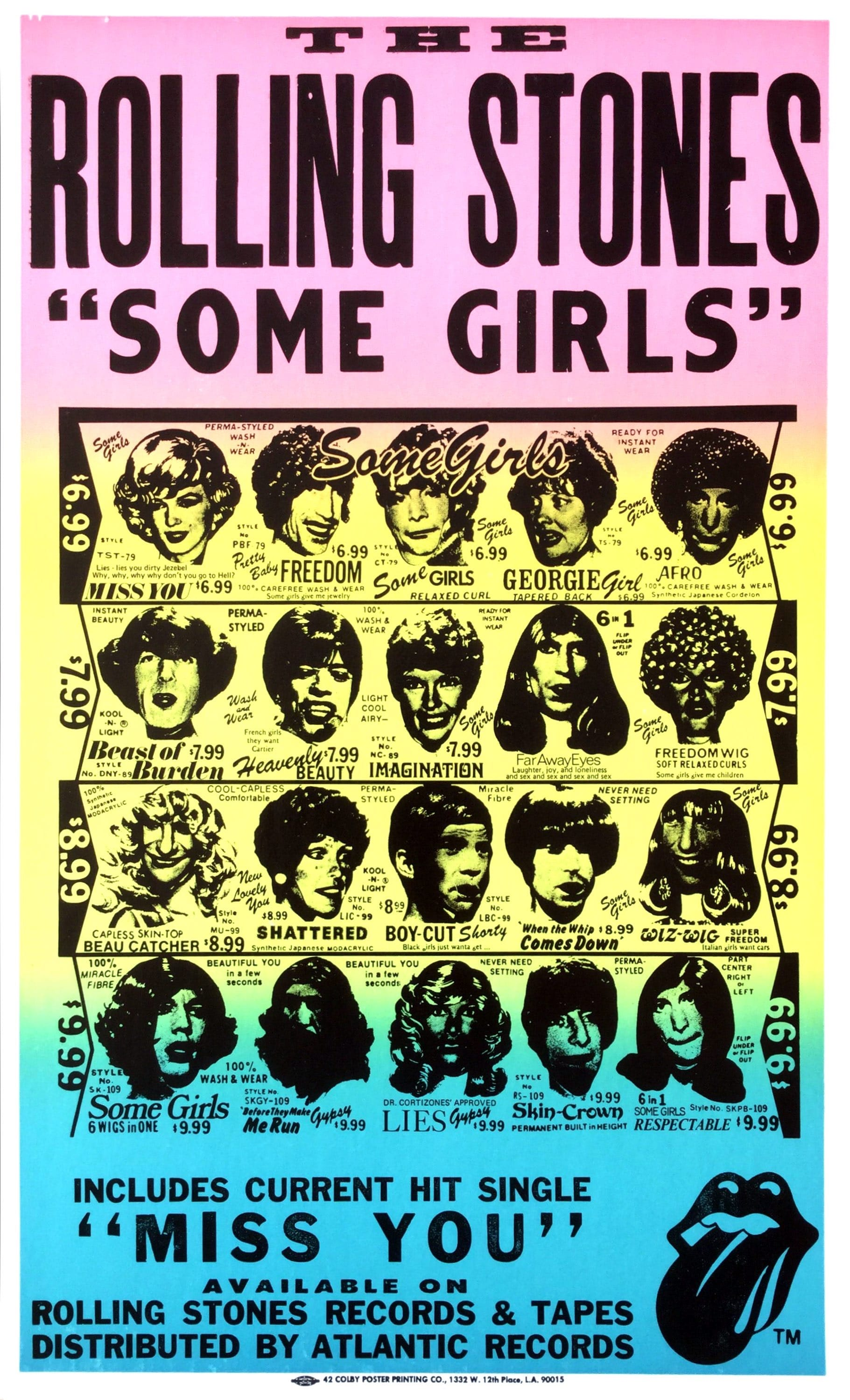 The Rolling Stones Rare 1978 Some Girls Boxing Style