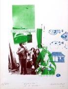 Captain Beefheart – Signed Cal Schenkel 1979 Silkscreen Lithograph (Frank Zappa)