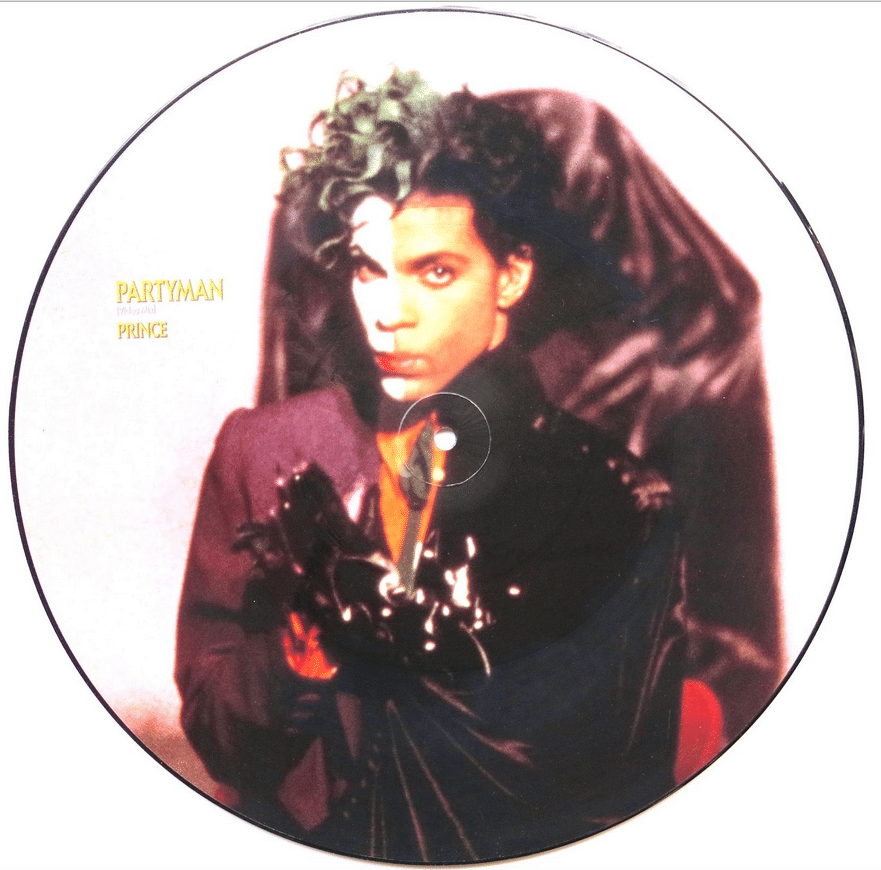 """Prince – Stage Worn """"Batman"""" Mirror Bracelet With 2 Letters of"""