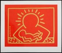 """Keith Haring –  Original Silkscreen Print Of """"A Very Special Christmas"""" Album Artwork"""