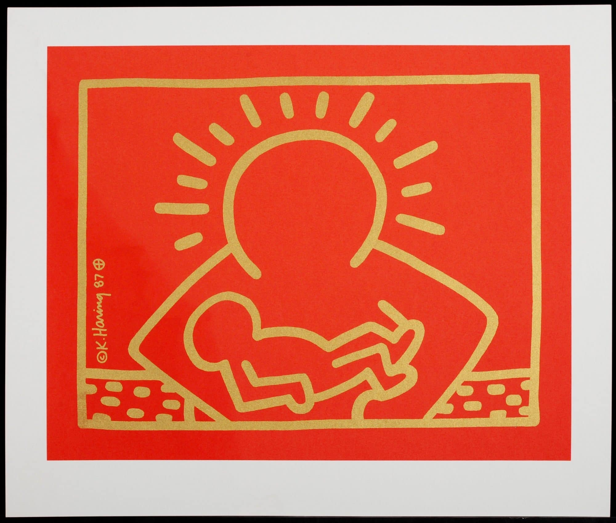 A Very Special Christmas.Keith Haring Original Silkscreen Print Of A Very Special