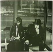 "White Stripes – XL Vinyl Promo 2 LP ""Get Behind Me Satan"" with Press Release, XL Card"