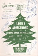 Louis Armstrong – Signed 1961 Handbill, Basin Street East, NYC
