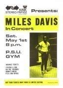 "Miles Davis – 1971 ""Live-Evil"" Era Boxing-Style Concert Poster"