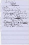 "Prince – Handwritten Lyric For Unknown Song ""Electric Rush"", With Roger Epperson Authentication"