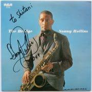 "Sonny Rollins – Signed Japanese ""The Bridge"" LP"