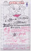 Red Hot Chili Peppers / Anthony Kiedis – Drawing on Address Book Page, From Louie Mathieu Collection
