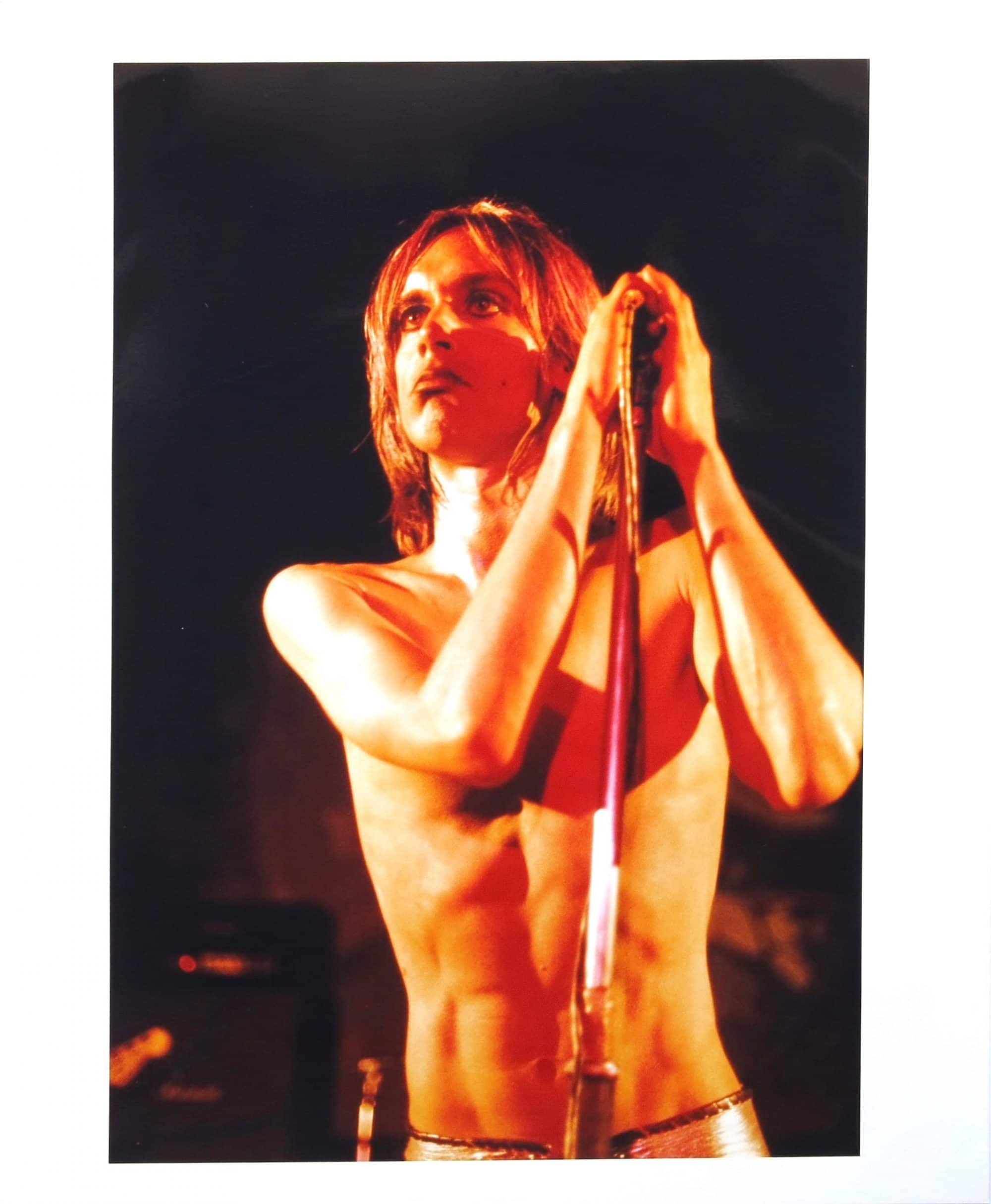 iggy pop  u2013 mick rock original photograph from stooges  u2018raw