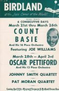 Count Basie / Duke Ellington – 1957 Birdland Handbill