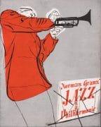 Charlie Parker / Coleman Hawkins – 1948 Jazz at the Philharmonic Concert Program