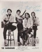 The Barbarians – 1960's Press Photo Autographed by Complete Band
