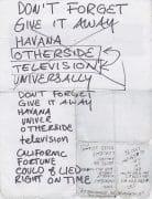 RED HOT CHILI PEPPERS  Anthony Kiedis HANDWRITTEN SET LIST 2003 / 2 COA's