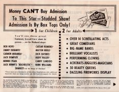 Hank Williams – 1951 Hadacol Caravan Show Handbill (Also Milton Berle, Bob Hope, Jack Dempsey, etc.)