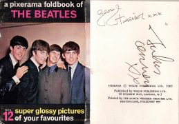 "The Beatles – John Lennon & George Harrison 1963 Signed ""Pixerama"" Photobook, With Perry Cox Letter of Authenticity"