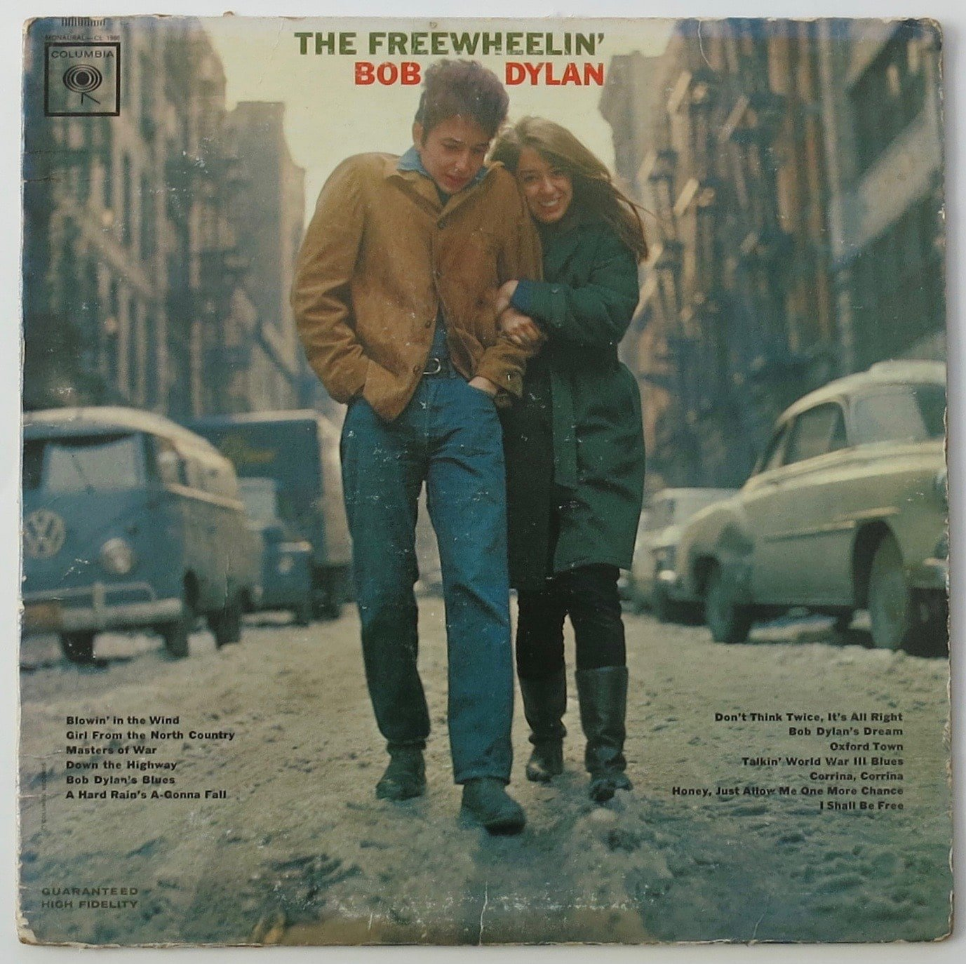 A Copy of 'The Freewheelin' Bob Dylan' With The Four Withdrawn