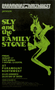 Sly & The Family Stone – 1973  Cardboard Boxing-Style Concert Poster