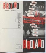 Birdland – 1950's Jazz Club Handbill / Brochure (Miles Davis / Duke Ellington / Charlie Parker / Count Basie)