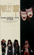 MÖTLEY CRÜE – 1985 Forum L.A. 1985 Concert Poster / Theatre of Pain Tour