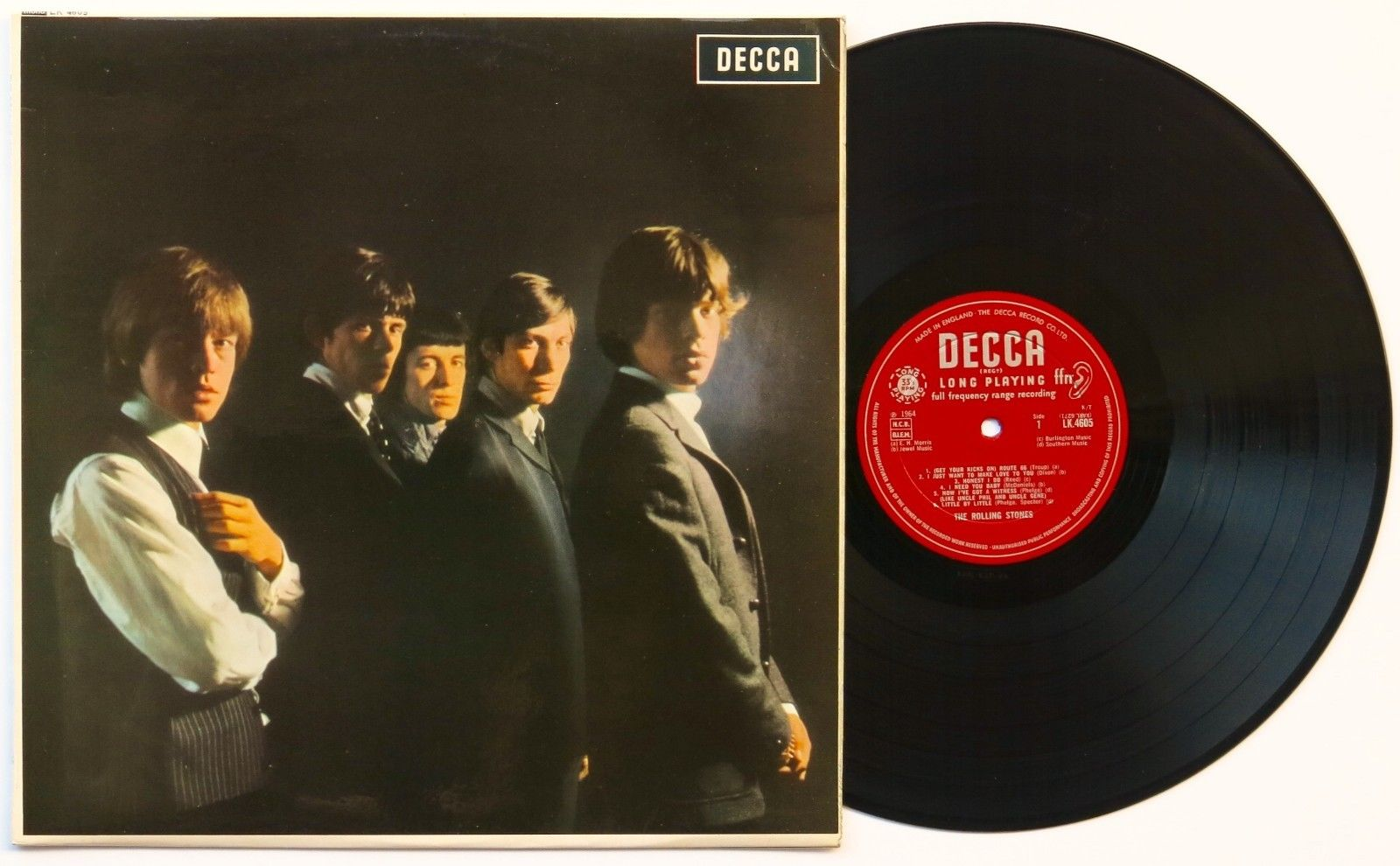 Rolling Stones 1964 Uk Debut Lp Unboxed Decca Possibly