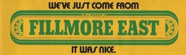 Fillmore East/Bill Graham – Unused 1960's Bumper Sticker