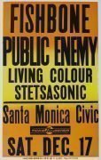 Public Enemy / Stetsasonic / Living Color / Fishbone – 1988 Boxing-Style Concert Poster