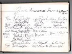 Jimi Hendrix – 'Rainbow Bridge' Guest Book Signed by Hendrix, His Manager, 26 Cast & Crew Members