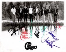 Chicago – Full Band Signed 8″ x 10″ Photograph With Terry Kath (Roger Epperson COA)