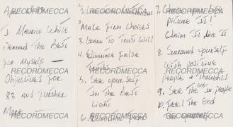 Maurice White / Earth Wind & Fire – 3 Pages of Handwritten Affirmations