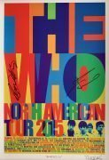 The Who – Townshend & Daltry Autographed 2015 US Tour Lithograph