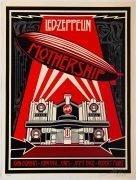 Led Zeppelin- Shepard Fairey Signed 'Mothership' Silkscreen Print #130/400