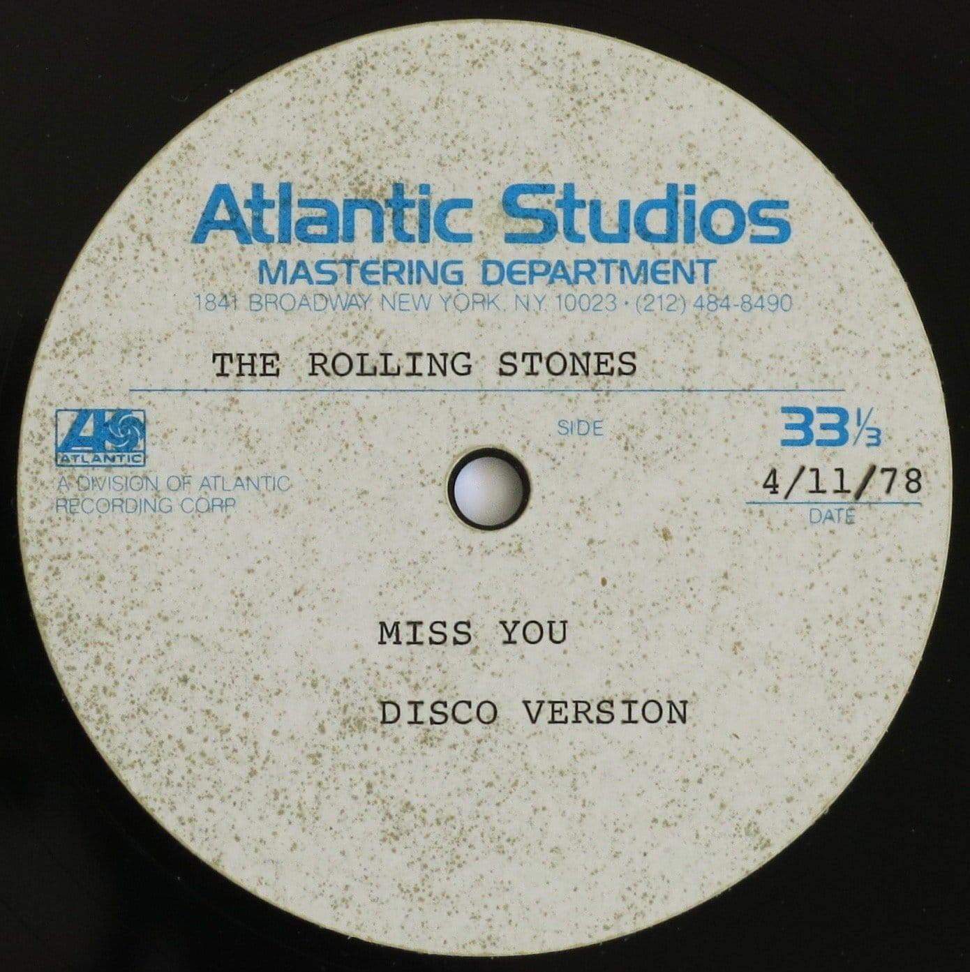 Rolling Stones Ultra Rare Miss You Disco Version 12