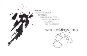 "David Bowie – Signed ""With Compliments"" Card"" With Roger Epperson Authentication, Lifetime Guarantee"
