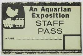 Woodstock Festival – Original 1969 'Staff' Backstage Pass (Jimi Hendrix, The Who, Grateful Dead, Janis Joplin)