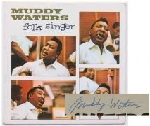 """Muddy Waters – Signed 1964 UK 1st Press """"Folk Singer"""" LP With Lifetime Guarantee"""