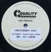 "Jimi Hendrix – 1-Sided Test Pressing from ""Electric Ladyland"" Deluxe Edition 50th Anniversary Box Set"