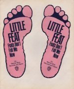 "Little Feat – 1974 ""Feats Don't Fail Me Now"" Die-Cut Feet Stickers"