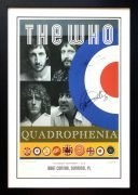 The Who – Townshend and Daltrey Signed & Framed 2012/2013 US Tour Poster
