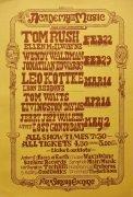 Tom Waits, Leo Kottke, Tom Rush – 1976 Northampton MA Academy of Music Concert Poster