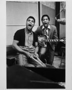 Muhammad Ali (Cassius Clay) & Sam Cooke – Original 11″ x 14″ Recording Session Photograph