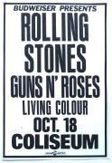 Rolling Stones – Cardboard Poster with Guns N' Roses at the Coliseum