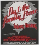 Sly & The Family Stone – 1972 San Francisco Civic Auditorium Handbill