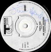 "Jimi Hendrix – Autographed UK ""Purple Haze"" 45, with Roger Epperson, Recordmecca COA's"