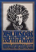 Jimi Hendrix Experience – Beautiful 1st Printing 1968 Shrine Auditorium Concert Poster (AOR 3.72, art by John Van Hamersveld)
