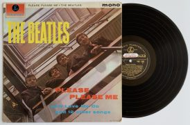 "The Beatles – Promotional Black & Gold Parlophone ""Please Please Me"" LP, Hand Annotated by John Lennon (Beatles Press Office Copy, With Historic Story, Near Mint, 1G/1R Stampers)"