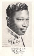 B.B. King – 1968 Signed Fan Club Card (From Shrine Auditorium LA Show with The Yardbirds)