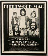 Fleetwood Mac – 1976 Concert Poster Syracuse War Memorial with Firefall