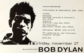 Bob Dylan – Extremely Rare 1964 San Francisco Concert Poster