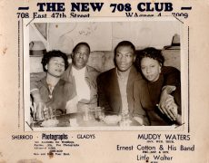 Muddy Waters / Little Walter – Circa 1955 Souvenir Photo From Chicago's 708 Club