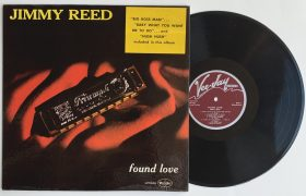 "Jimmy Reed – 1960 1st Press ""Found Love"" LP with Deep Groove Maroon Labels, Ultra Rare Hype Sticker"